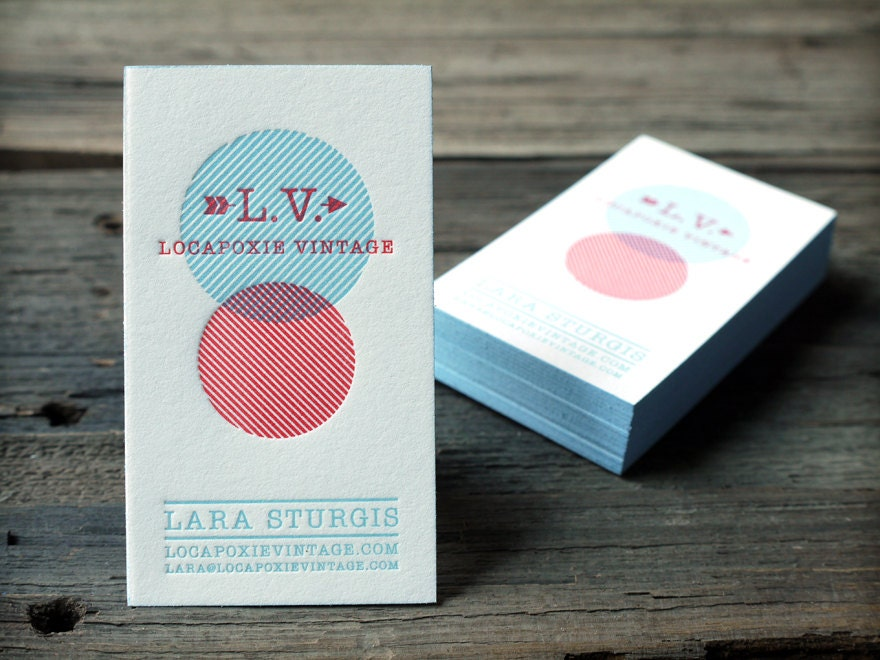 Custom Letterpress Business Card and Graphic Design Package w/
