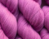 Raspberry Sorbet Aran Weight Merino Yarn, 1162 Yards Available in Four Different Length Skeins, 12.7 Ounces Total