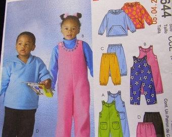 toddler jumpsuit top and pants  pattern mccalls m4644 uncut