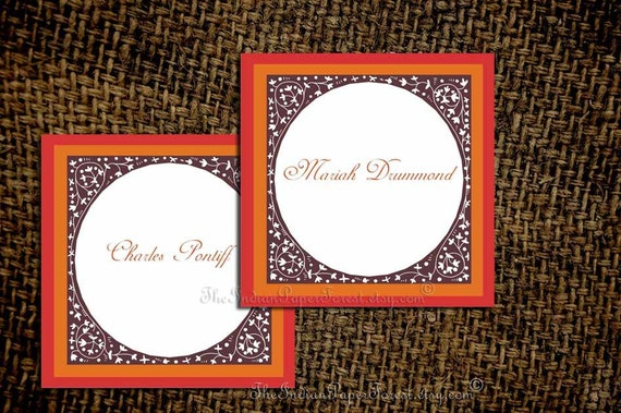 Diy PRINTABLE Personalized Place Card TRELLIS Wedding Table Setting Decor Escort Favor Tag Thank You Seating Sign Template Name Indian Arab