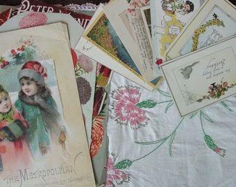 Romantic vintage paper collection