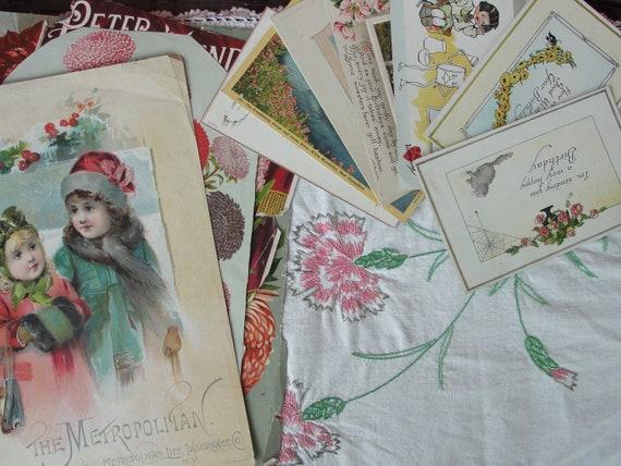 Romantic vintage paper collection