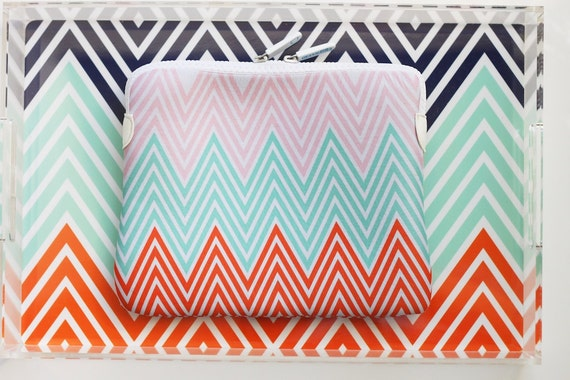 Personalized Chevron Neoprene Sleeve - Choose your own custom colors