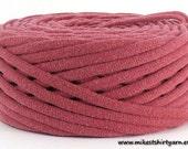 Dusty Rose Recycled TShirt Yarn 40 Yards Super Bulky Crafting Cord