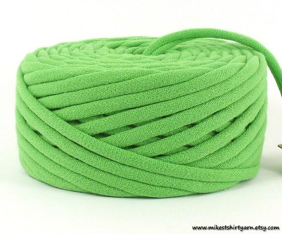 Recycled T Shirt Yarn Bright Green 33 Yards Crafting Cord