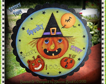 E PATTERN - Spooky Trio of Pumpkins - Painted & Designed by me, Sharon B. - FAAP
