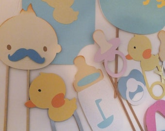 Baby shower photo booth props for  girls or boys.  Clearance sale!