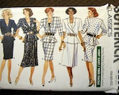 Vintage Butterick Classics Pattern Misses Top, Skirt, and Tank Top size 18-22 Very Easy 6205