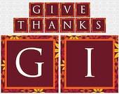 Thanksgiving Themed Banner - DIY Printable