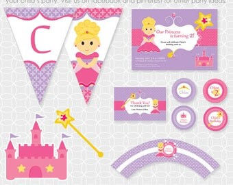 Party Printable Princess Party Theme - Personalized Printable