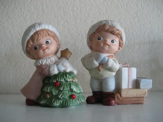 Vintage Homco Boy and Girl Figurines 5556