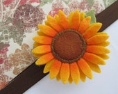 Indian Summer Sunflower Headband.  Perfect Fall Accessory for Infant, Toddler or Child.  MADE TO ORDER - SugarBearsBows