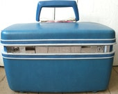 Samsonite Silhouette Train Case Make Up Case Kingfisher Teal