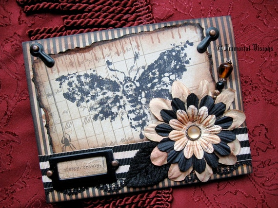 Gothic Halloween Greeting Card - Death Head Moth