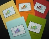 Reserved for Heidi, Children Thank You Cards Set  of 10 Fish Ocean Summer