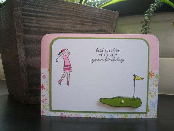 Handmade Birthday Card for Golfer