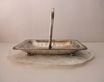 vintage Yeoman silverplate serving tray with handle - made in England