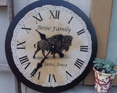 "24"" x 24"" Personalized Clock for Adinda"
