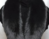 Real Genuine Black Fox detachable fur Collar new  made in usa authentic