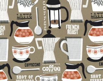 Michael Miller - French Roast in Taupe - 1 Yard (LOW STOCK)