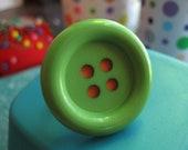 Green & Orange Adjustable Button Ring