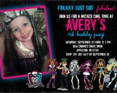 Monster High birthday invitation PRINT-YOUR-OWN