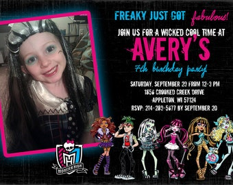 Monster High Birthday Invitations gangcraftnet