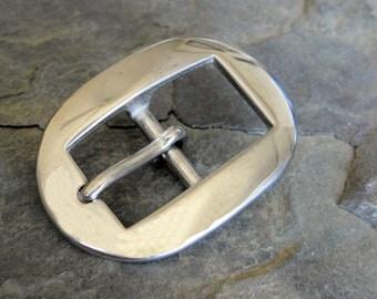 Stainless Steel Oval Beveled Heel Buckles 3/4 inch