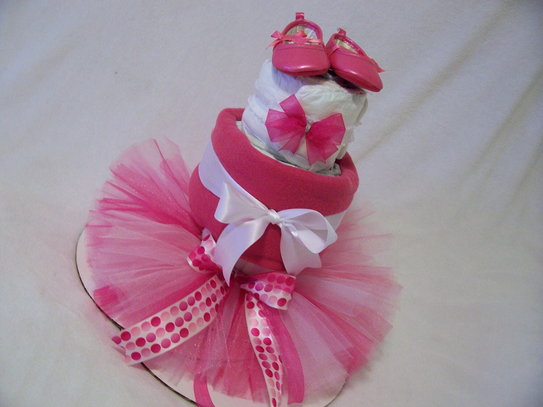 Baby Ballerina Diaper Cake By Chellebellebowtique On Etsy