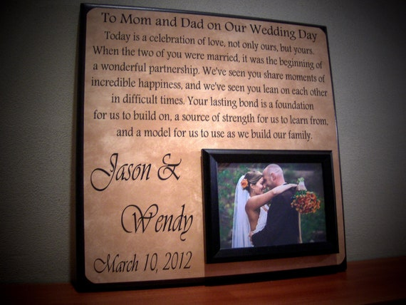 Wedding Gift For Parents, Parents Thank You Gift, Father of the Bride ...