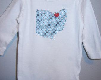 We Heart CLEVELAND onesie