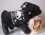 """Upcycled Skull Dog Hoodie, Size S, """"BAD ASSSSSS"""""""