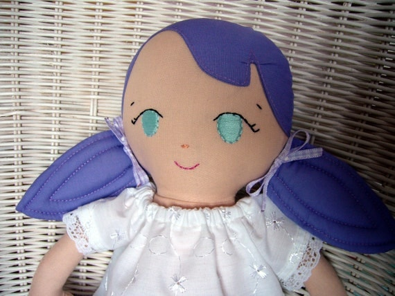 REDUCED - Handmade Doll, Violet. Can be personalised