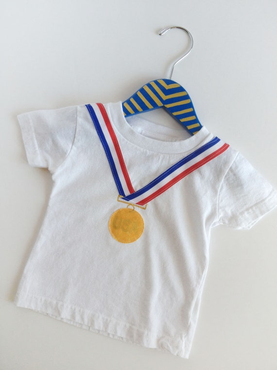 Winter Olympics gold medal olympic T-shirt kids, boys and girls