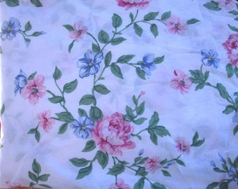 Double Fitted Bottom Sheet Floral Roses Flowers