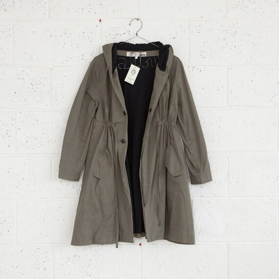 WINTER SALE --50% OFF--Winter fashion,Olive green coat,Hooded jacket,Army jacket