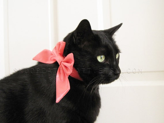 Lady Cat Bow - Choose Your Own Satin