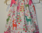 Michael Miller Nordic Holiday Pillowcase Dress or Twirl Skirt
