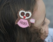 Adorable Owl Hair Clip - Meet Miss Owlivia--MORE COLOR CHOICES  (Treasury Item)