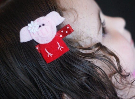 Olivia Inspired Hair Clip - Too Cute