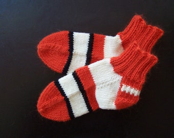 Knit Nemo Socks Orange White Black