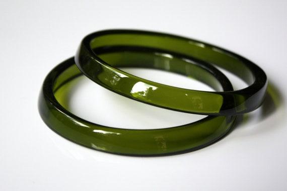 WINE Bottle BANGLE BRACELETS, Upcycled Jewelry, Recycled Glass Bracelets, Wine Bottle Rings, Green Bracelets,  Dessin Creations