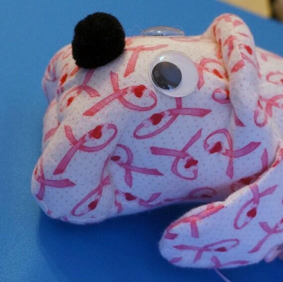 Breast Cancer Awareness Scraphound - Cassidy, stuffed dog