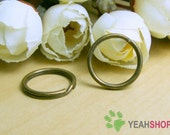 16mm Antique Brass Split Rings - 20 PCS (SR3)