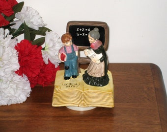 "1974 ""School Days"" Music Box by Albert E. Price Imports, Japan / Rotates"