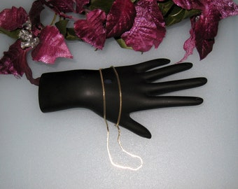 "Slinky 12K Gold Filled Necklace / Choker / 15 1/2"" / FREE US Shipping / Nice"