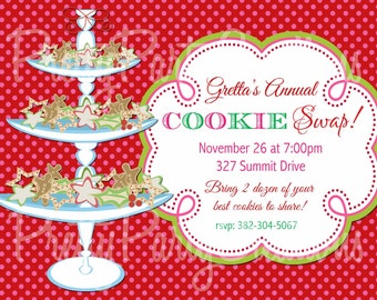 COOKIE SWAP invitation - U PRINT - 5 to choose