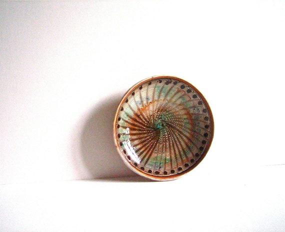 Vintage HOREZU Romanian Ceramic plate