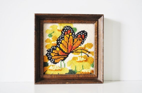 Small Butterfly Needlepoint