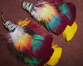 Feather Earrings- The Dance of Light- Short Feather Earrings- Made to Order